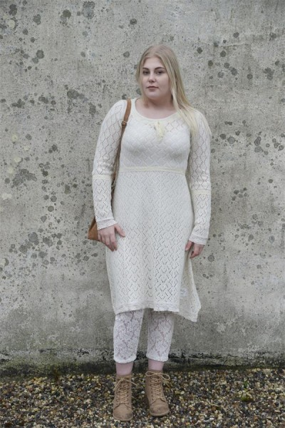Kleid Heartfelt Warmth creme Gr. XL - XXL